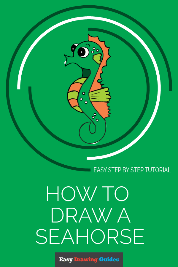 How to Draw a Seahorse | Share to Pinterest