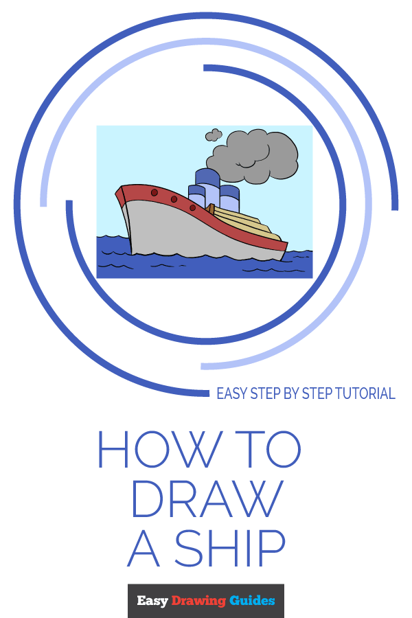How to Draw Ship | Share to Pinterest