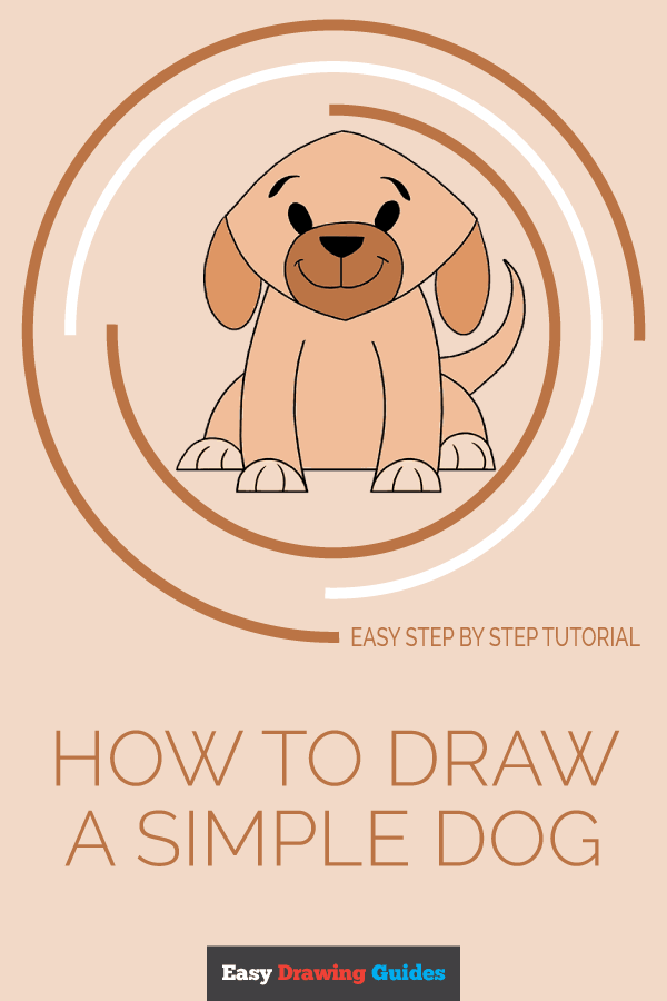 How to Draw Simple Dog | Share to Pinterest