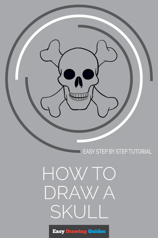 How to Draw Skull | Share to Pinterest