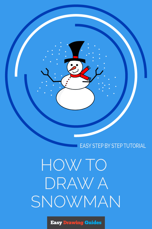 How to Draw Snowman | Share to Pinterest
