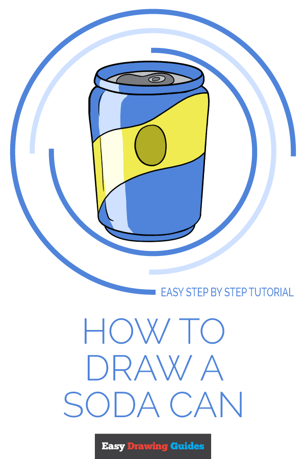 How to Draw Soda Can | Share to Pinterest