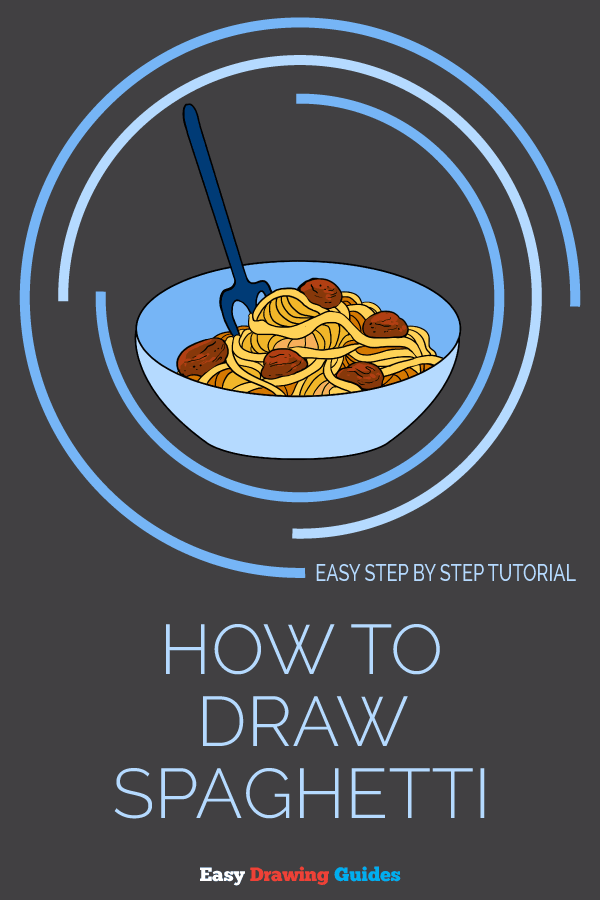 How to Draw a Spaghetti | Share to Pinterest