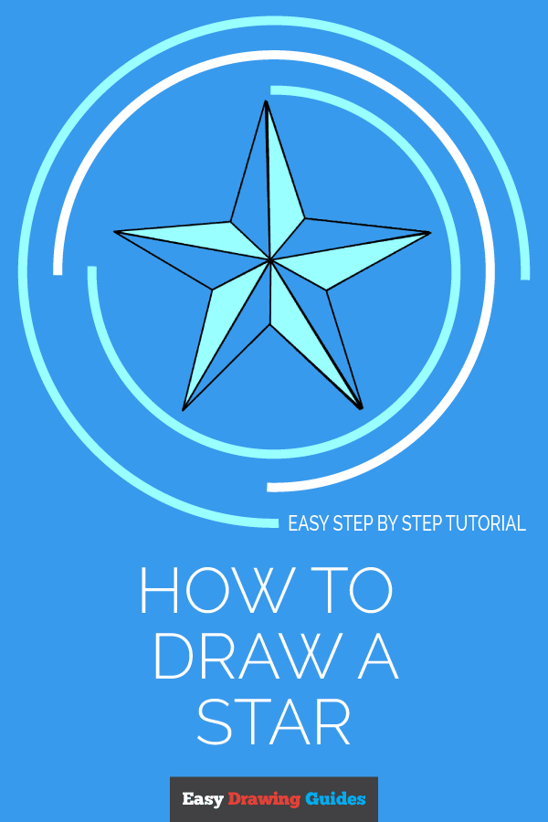 How to Draw Star | Share to Pinterest