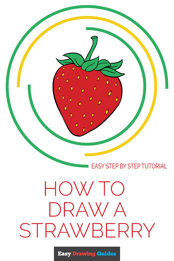 How to Draw Strawberry | Share to Pinterest