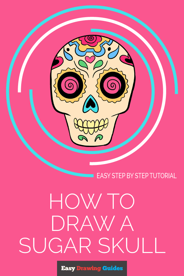 How to Draw Sugar Skull | Share to Pinterest