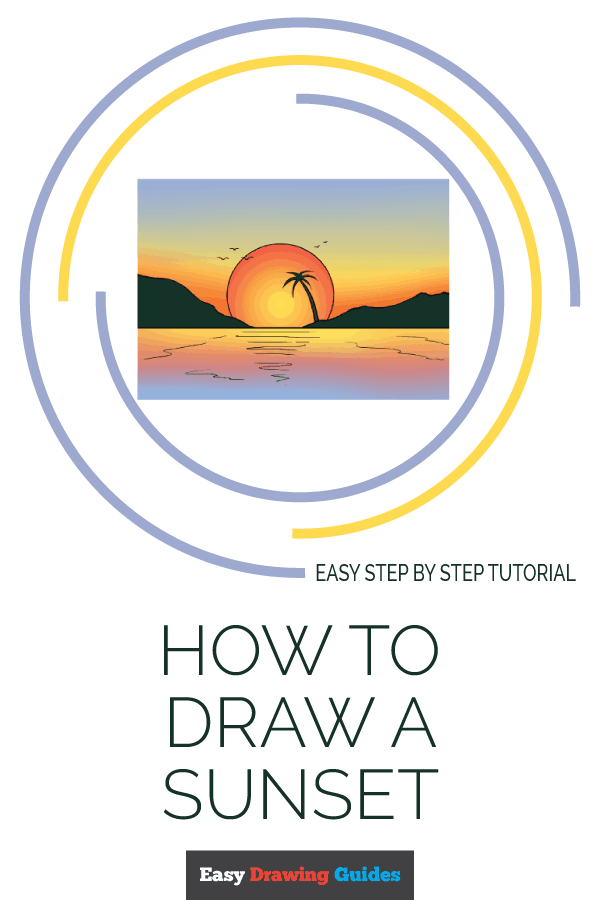 How to Draw Sunset | Share to Pinterest