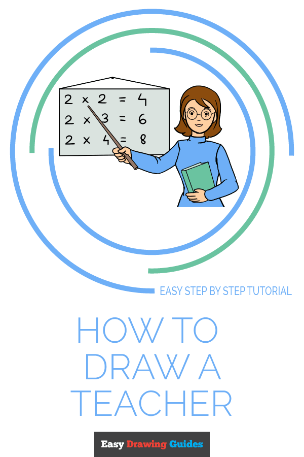 How to Draw Teacher | Share to Pinterest