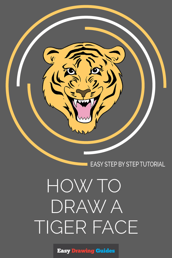 How to Draw Tiger Face | Share to Pinterest