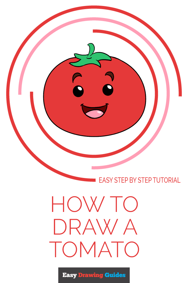How to Draw Tomato | Share to Pinterest