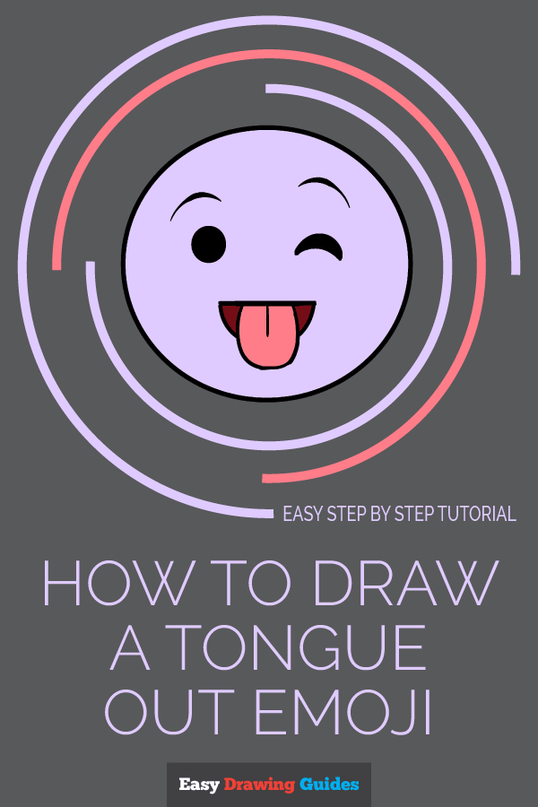 How to Draw a Tongue Out Emoji | Share to Pinterest