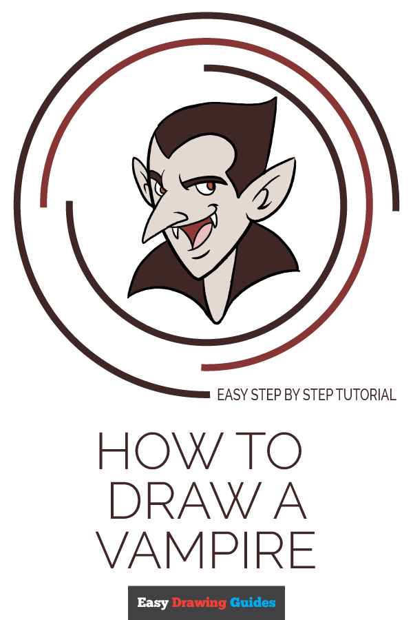 How to Draw Vampire | Share to Pinterest