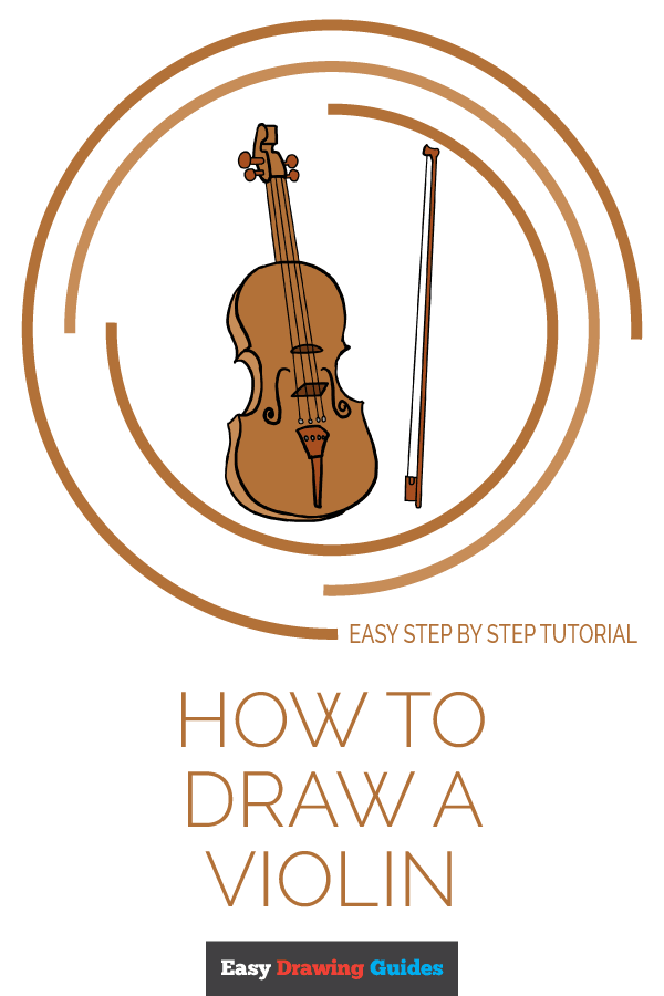 How to Draw Violin | Share to Pinterest