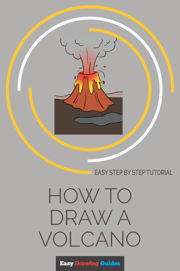 How to Draw Volcano | Share to Pinterest