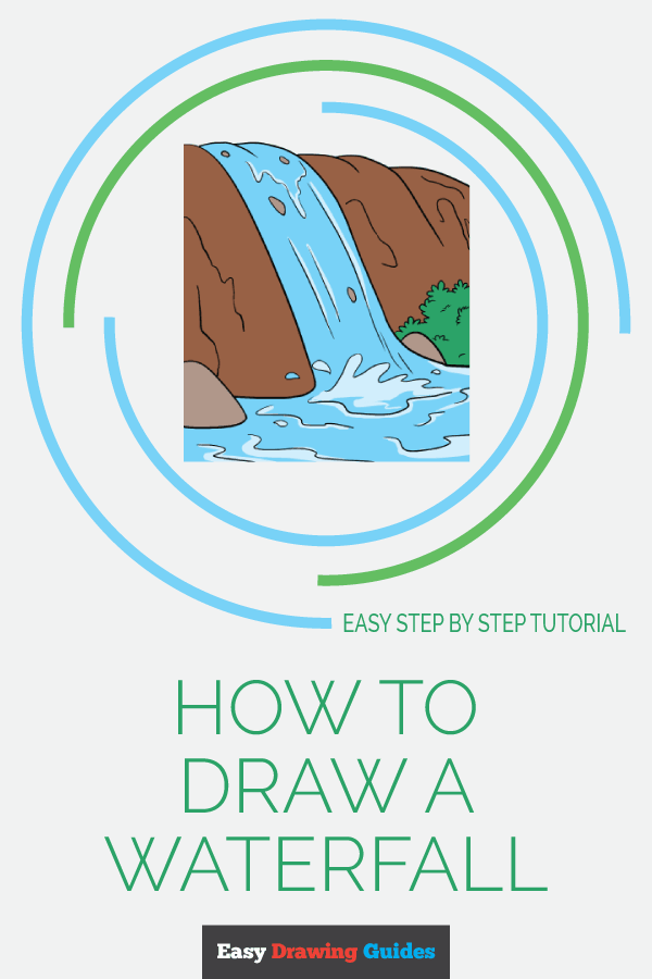 How to Draw Waterfall | Share to Pinterest