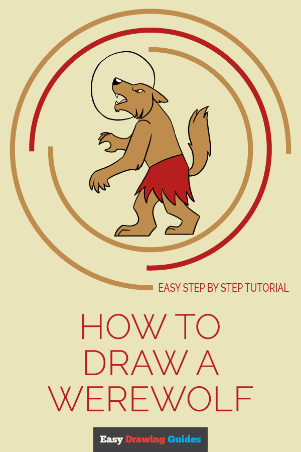 How to Draw Werewolf | Share to Pinterest