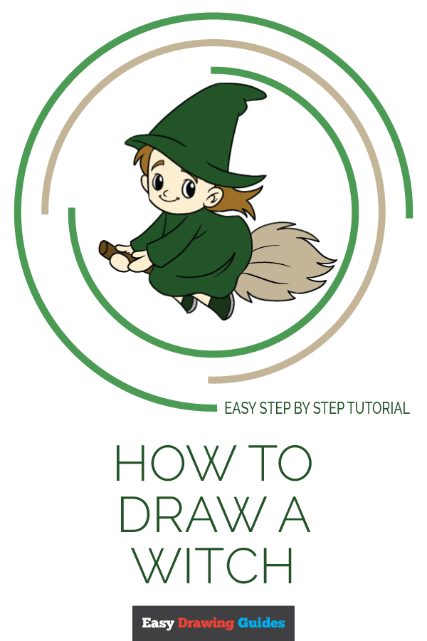 How to Draw Witch | Share to Pinterest