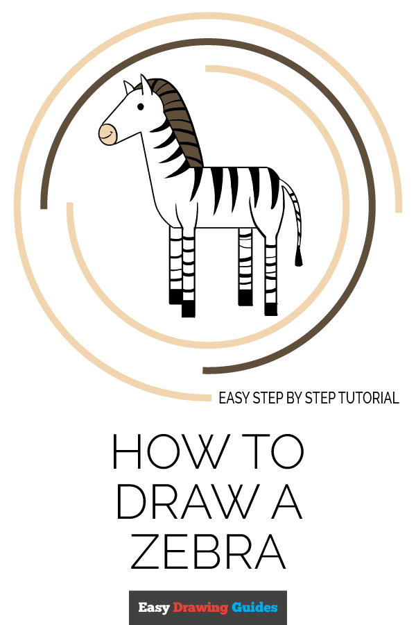 How to Draw Zebra | Share to Pinterest