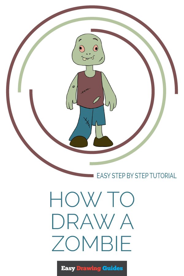 How to Draw Zombie | Share to Pinterest