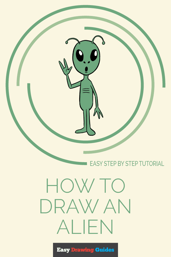 How to Draw Alien | Share to Pinterest