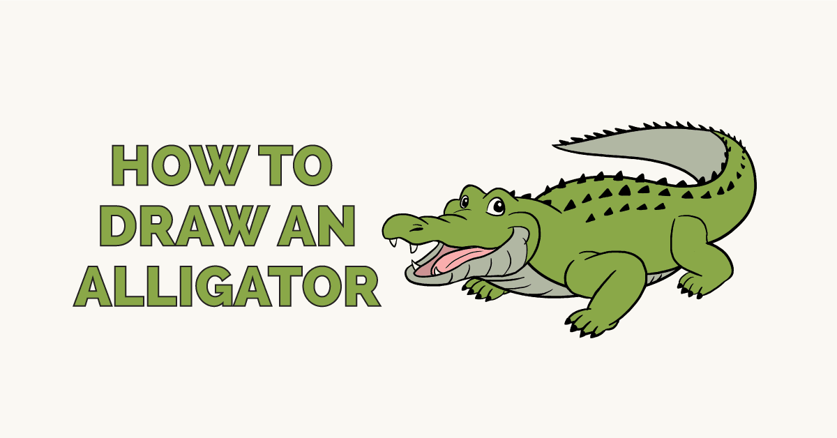 How to Draw an Alligator: Featured Image