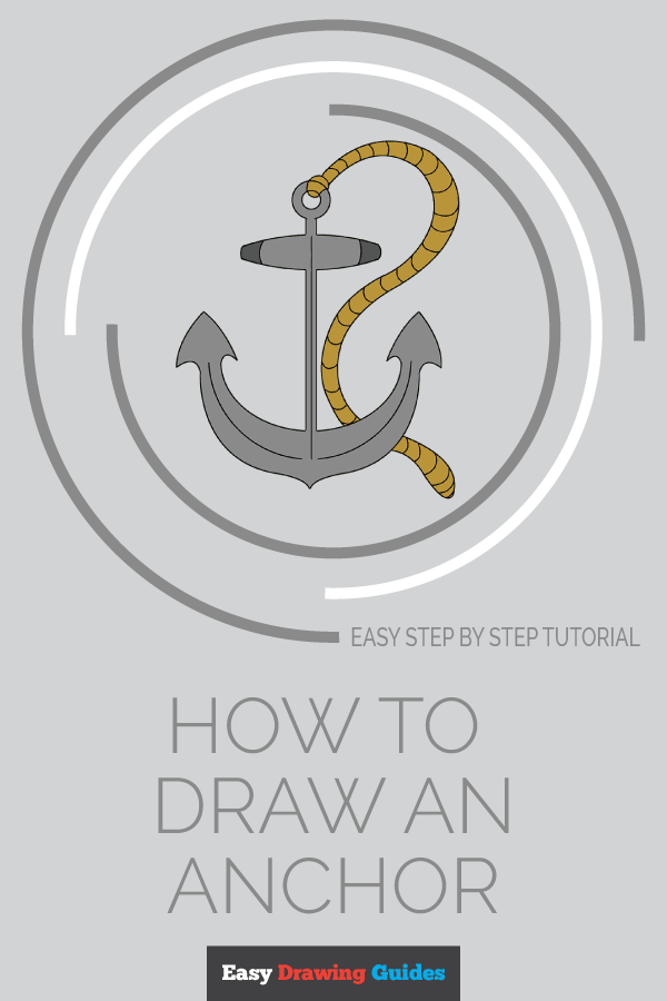 How to Draw Anchor | Share to Pinterest