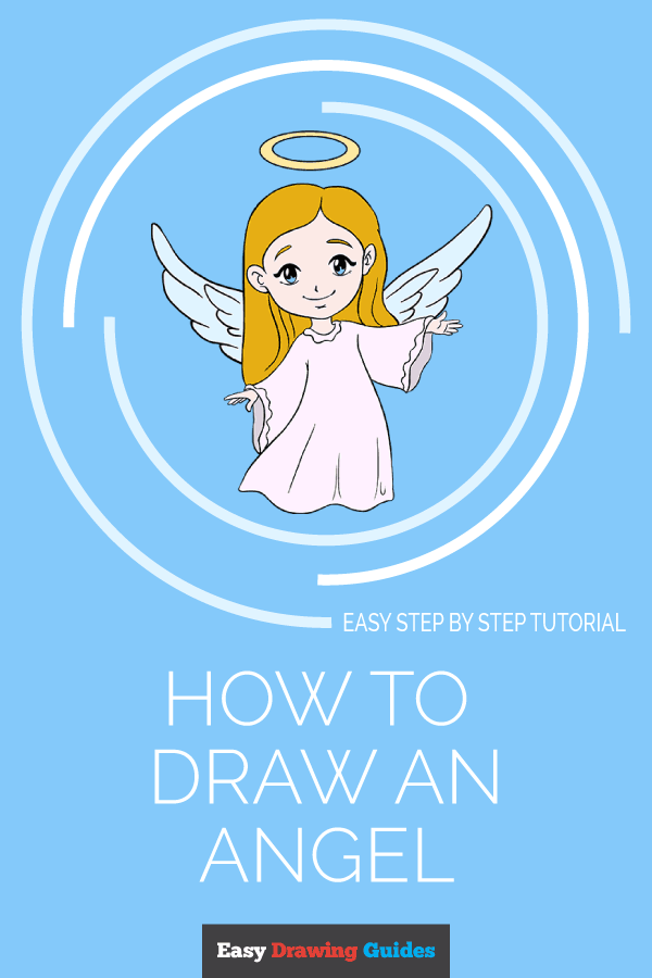 How to Draw Angel | Share to Pinterest