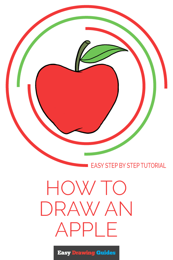 How to Draw Apple | Share to Pinterest