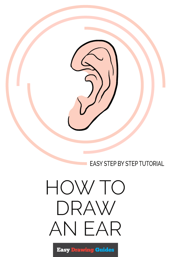How to Draw Ear | Share to Pinterest