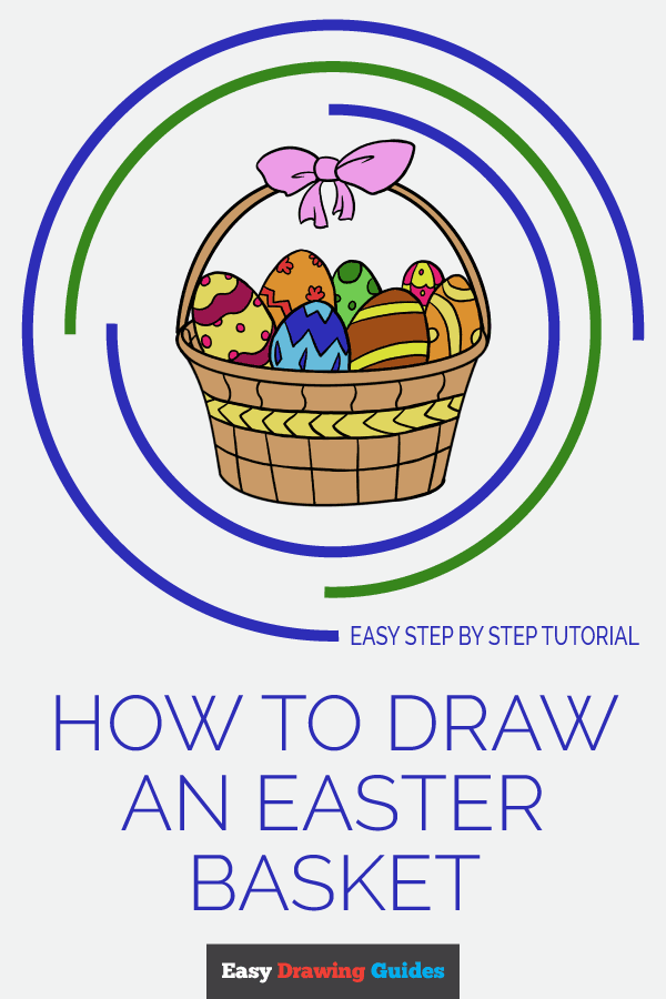 How to Draw Easter Basket | Share to Pinterest