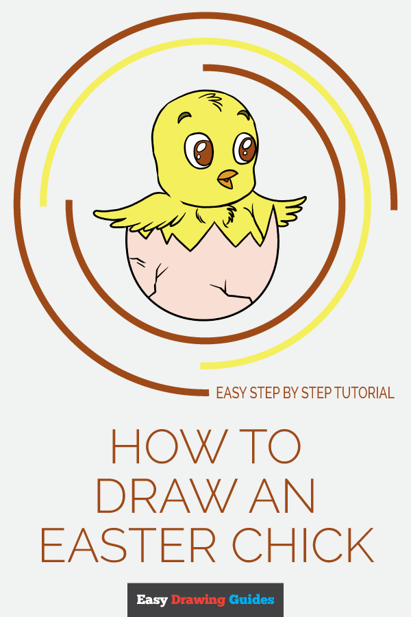 How to Draw Easter Chick | Share to Pinterest