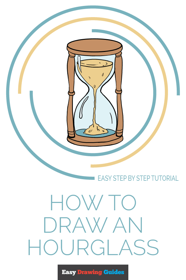 How to Draw Hourglass | Share to Pinterest