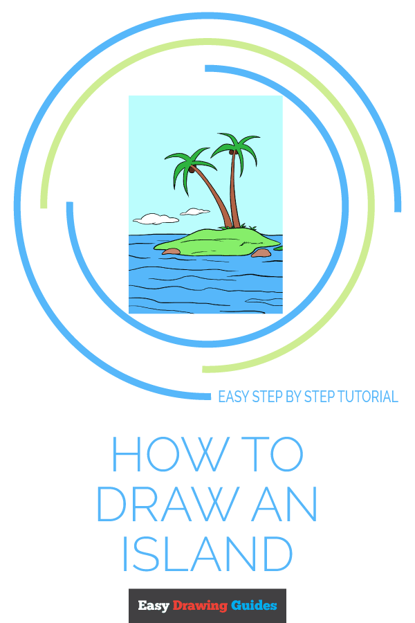 How to Draw Island | Share to Pinterest