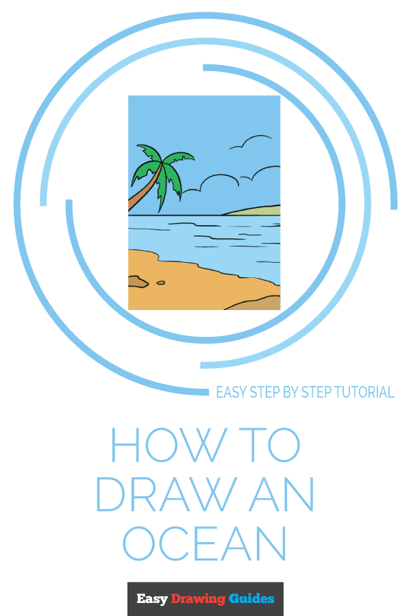How to Draw Ocean | Share to Pinterest