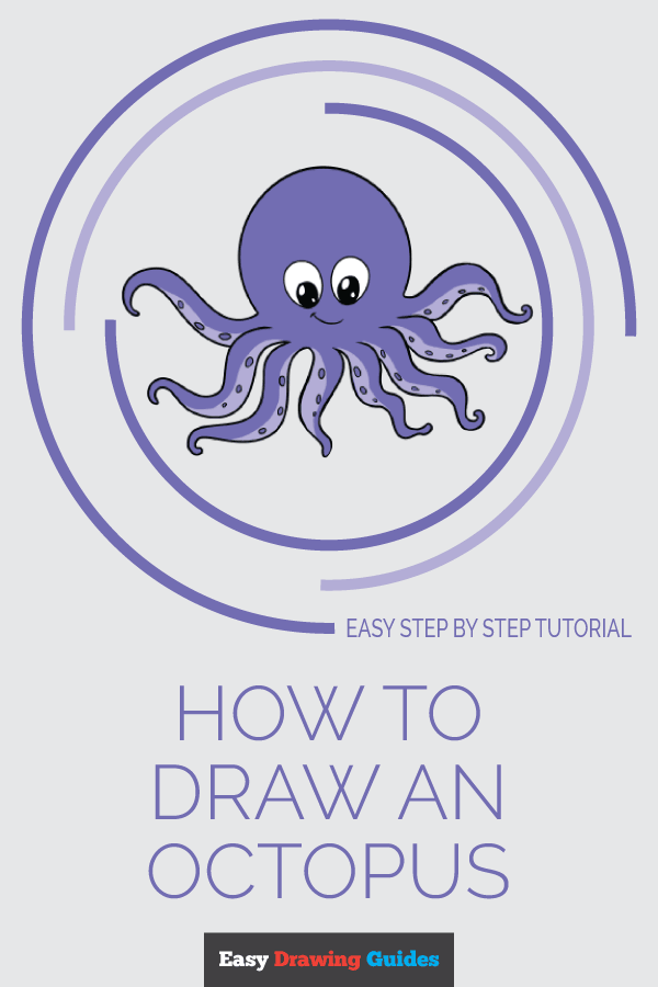 How to Draw Octopus | Share to Pinterest