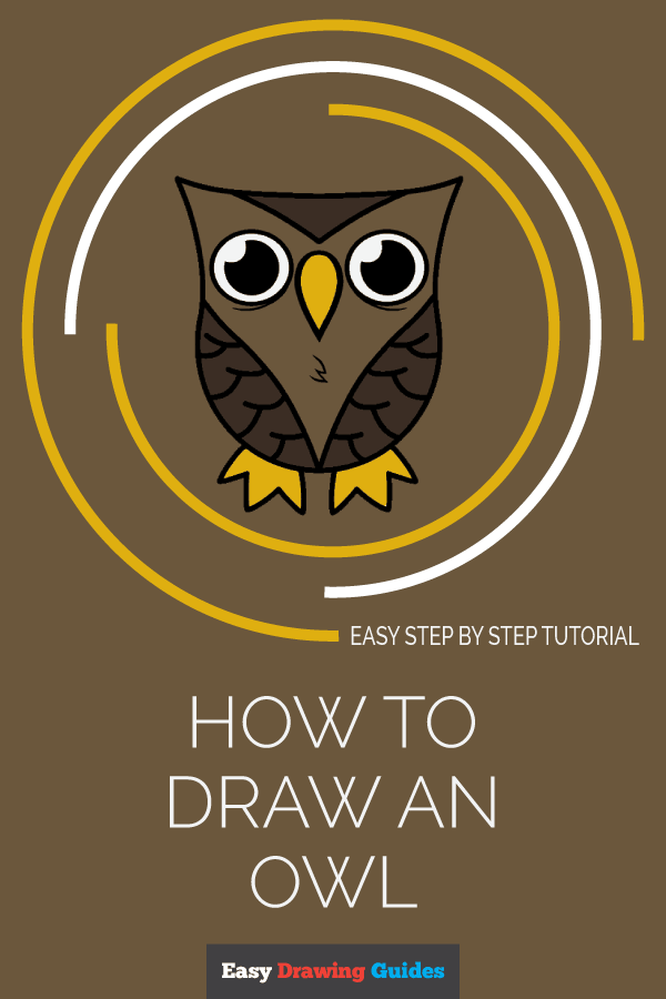 How to Draw Owl | Share to Pinterest