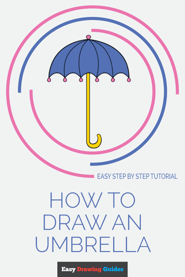 How to Draw an Umbrella | Share to Pinterest