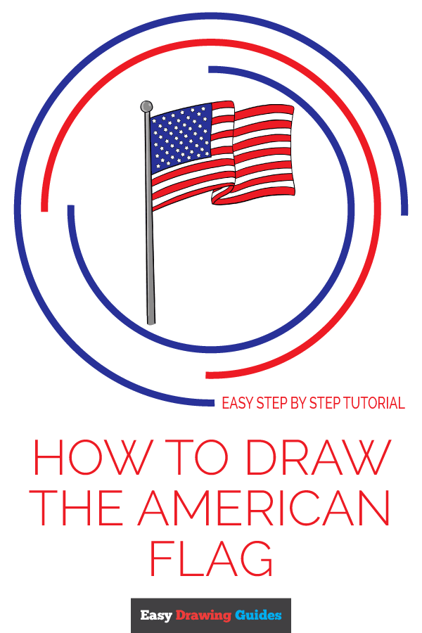 How to Draw American Flag | Share to Pinterest