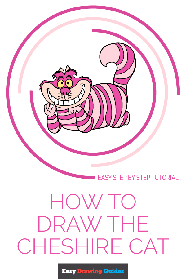 How to Draw Cheshire Cat | Share to Pinterest