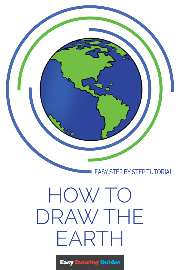 How to Draw Earth | Share to Pinterest