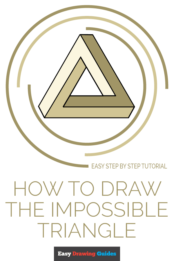 How to Draw Impossible Triangle | Share to Pinterest
