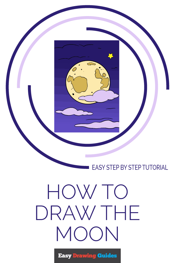 How to Draw Moon | Share to Pinterest