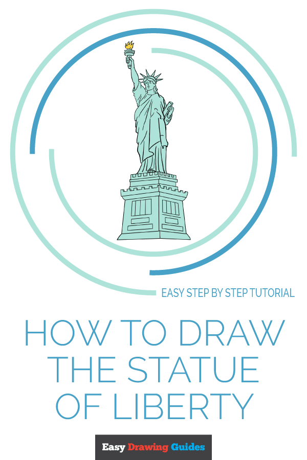 How to Draw Statue of Liberty | Share to Pinterest