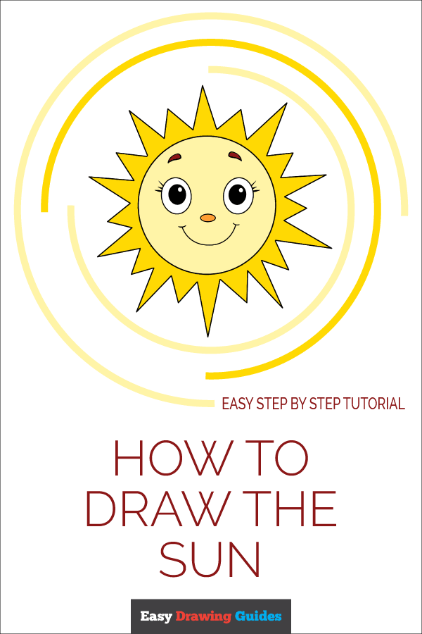 How to Draw Sun | Share to Pinterest