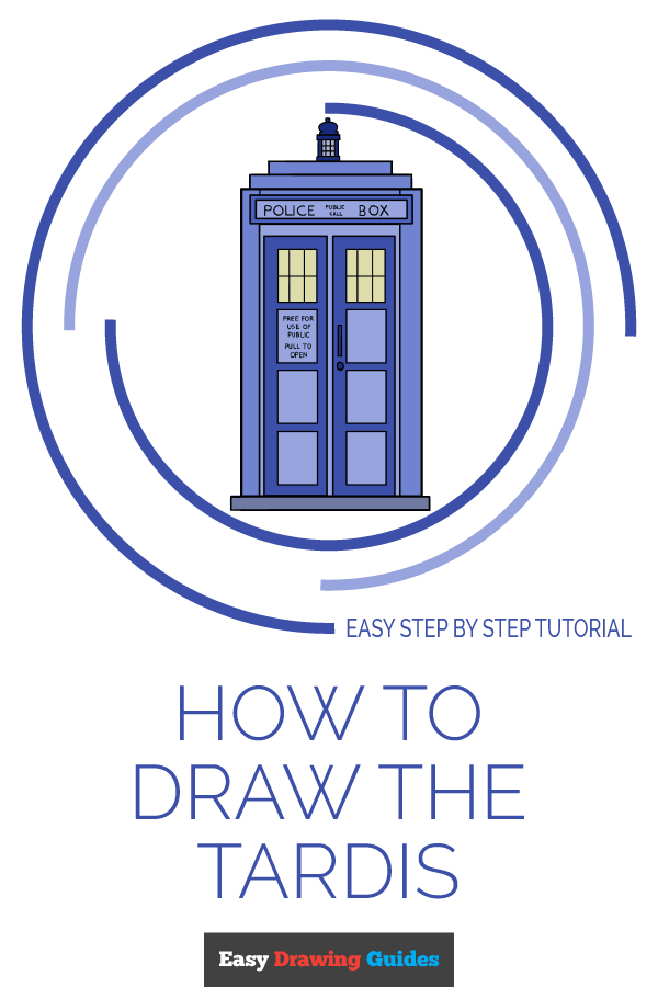 How to Draw Tardis | Share to Pinterest
