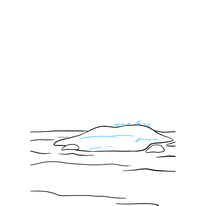 How to Draw Island: Step 5