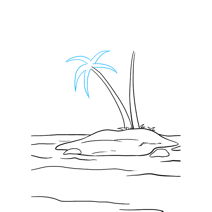 How to Draw Island: Step 7