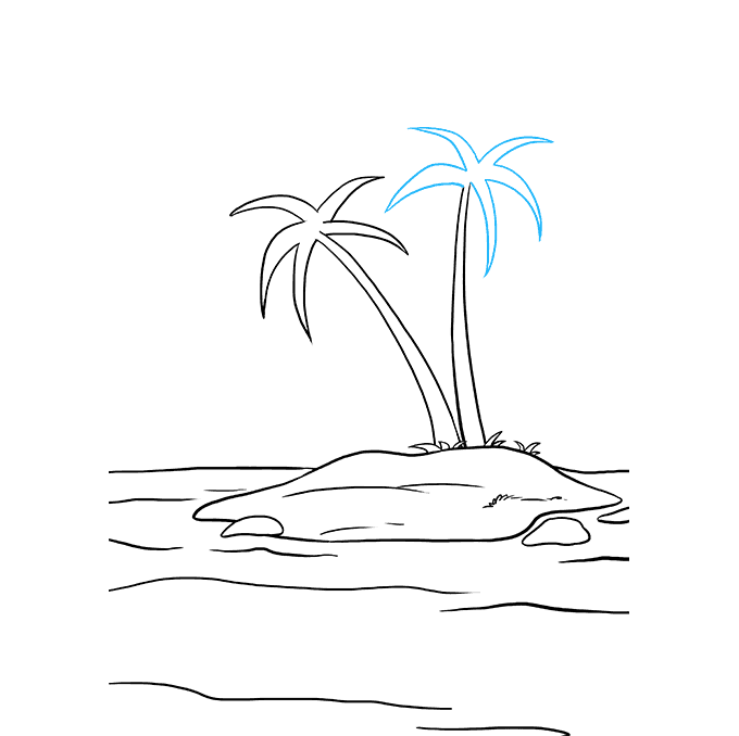 How to Draw Island: Step 8