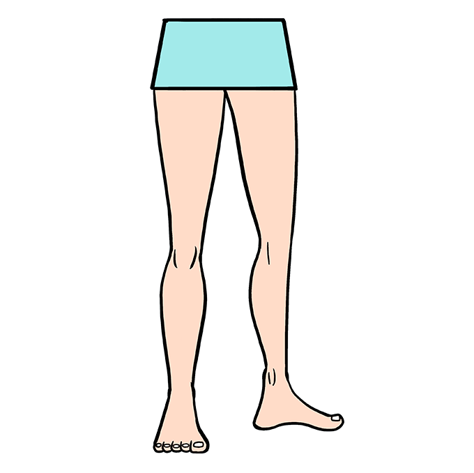 How to Draw Legs: Step 10