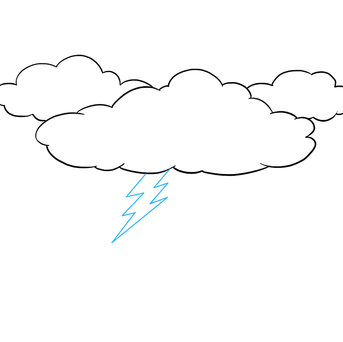 How to Draw Lightning: Step 6